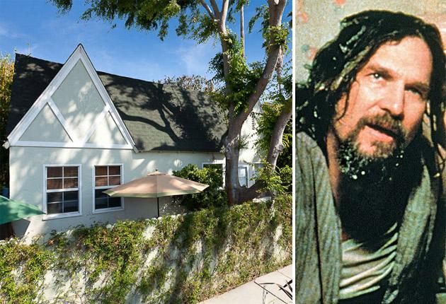 The one-bedroom cottage in Venezia Avenue which features in 'The Big Lebowski'. Right, Jeff Bridges as 'The Dude'