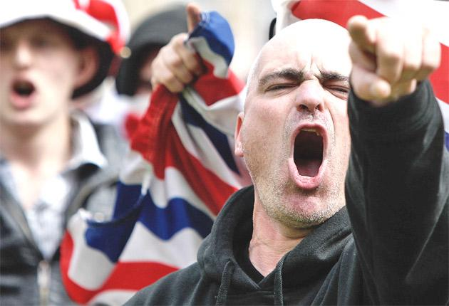 Passions run high at an EDL demo