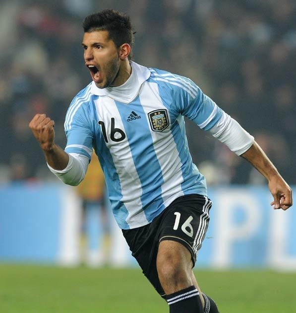 Aguero appears delighted to be joining City