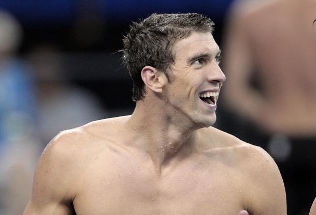 Michael Phelps, after winning the gold medal in the Men's 4 x 100m Medley Relay in Shanghai