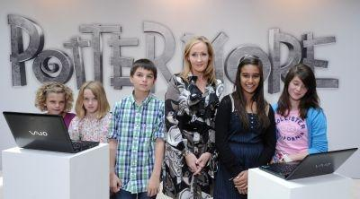 Harry Potter creator J.K. Rowling celebrates the launch of Pottermore.