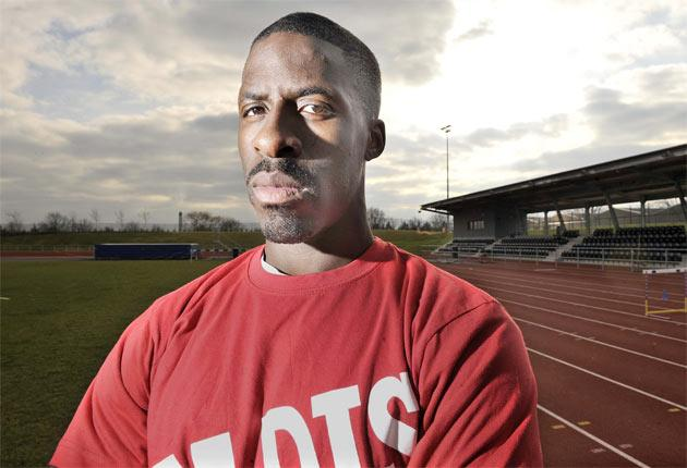 Dwain Chambers is banned from running at Crystal Palace