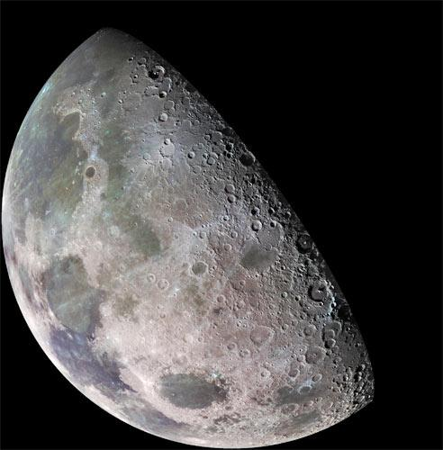 The near side of the Moon is much flatter than the far side