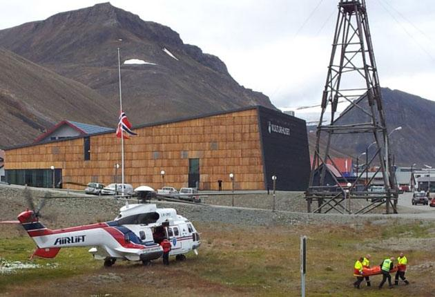 The four injured  were being flown to Tromso in Norway