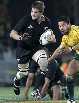 Captain marvel: Richie McCaw leads the charge for New Zealand in Auckland