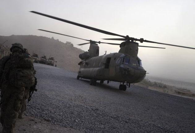 Chinook helicopter in Afghanistan: 38 people were killed in yesterday's crash in Wardak