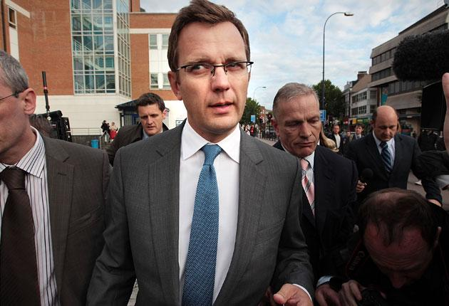 Andy Coulson leaves Lewisham police station last month after his arrest.