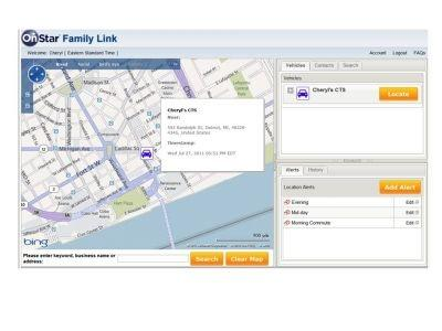 OnStar enables parents to track their children