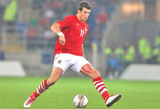 Tottenham winger Gareth Bale plays for Wales against Australia tonight