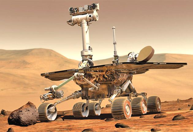 An artist s impression of one of the two mars rovers which have been