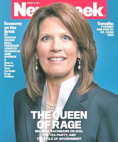 The National Organisation for Women accused Newsweek of casting a 'serious presidential candidate' as 'a nut job'