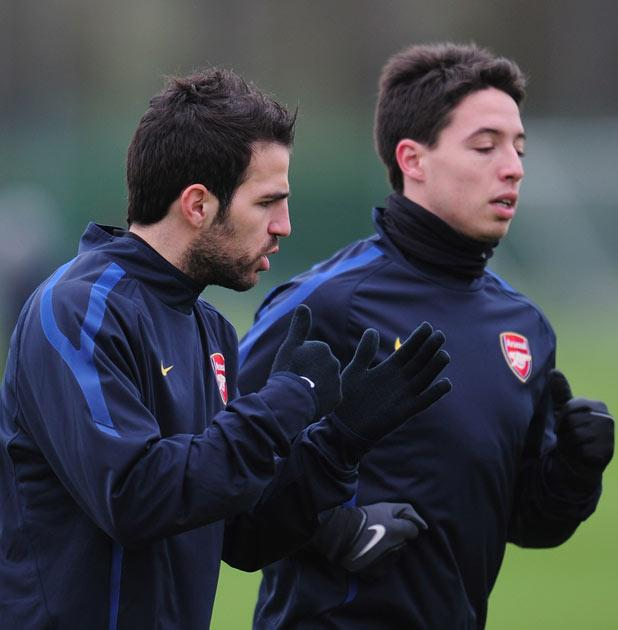 Fabregas and Nasri have both been linked with a move away from Arsenal