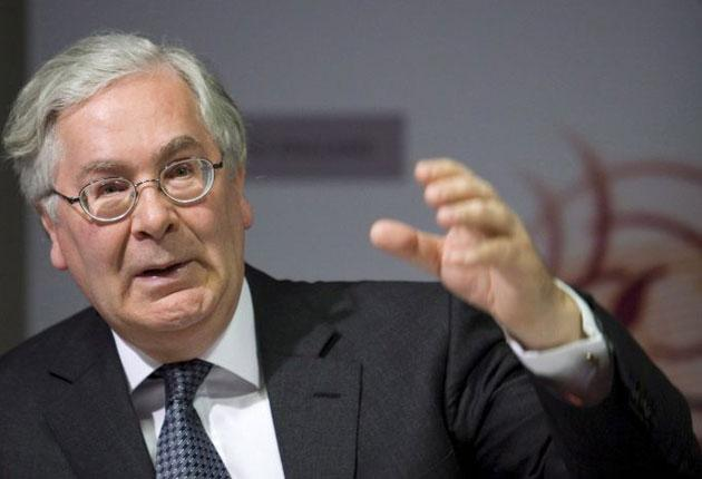 Sir Mervyn King blamed concerns over indebtedness in the eurozone and disappointing growth and fiscal policy in the US for a sharp downturn in the market mood