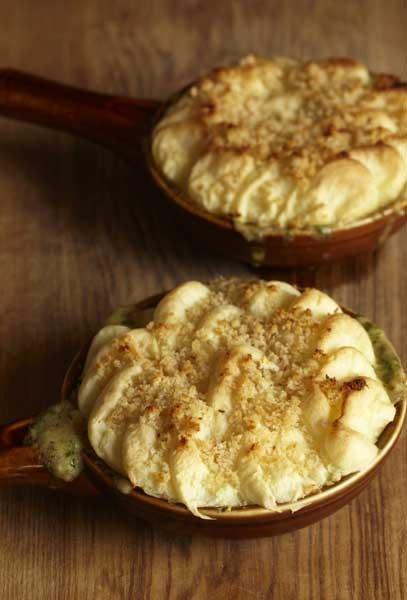 Cep pie is a great veggie version of a shepherd's pie