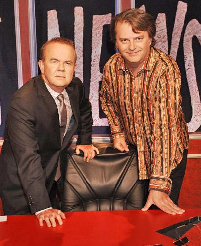 Ian Hislop and Paul Merton, team captains on 'Have I Got News for You'
