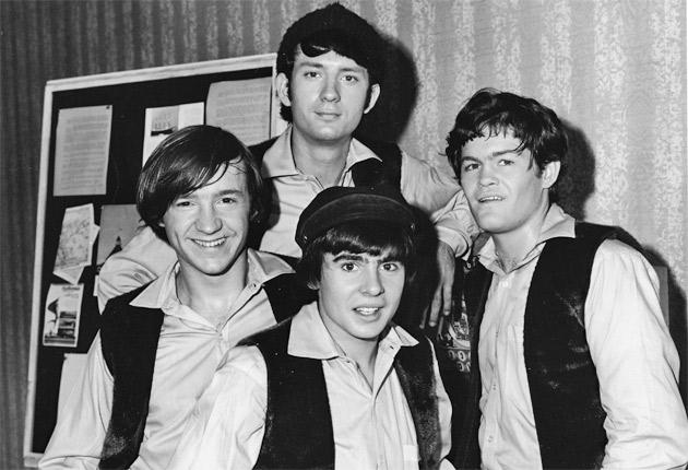 The Monkees in 1967: (from left) Peter Tork, Michael Nesmith, Davy Jones, Micky Dolenz