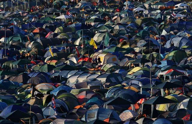 Back to nature? Tents at Glastonbury, June 2011
