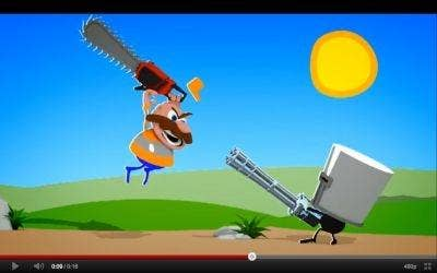 If only Don Quixote had known about chainsaw attacks.