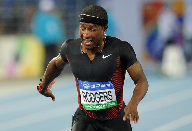 US sprinter Mike Rodgers was third in this year's world rankings but has tested positive for a banned substance