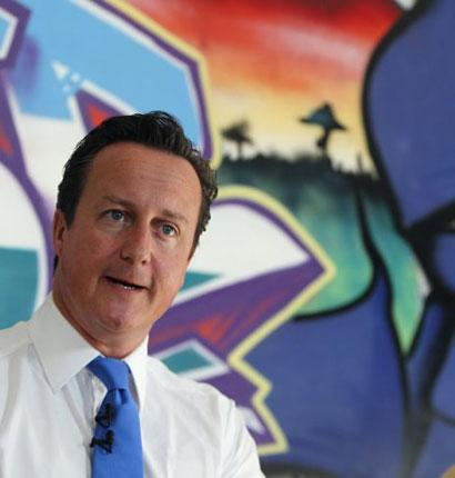 David Cameron speaks at a youth centre in Witney