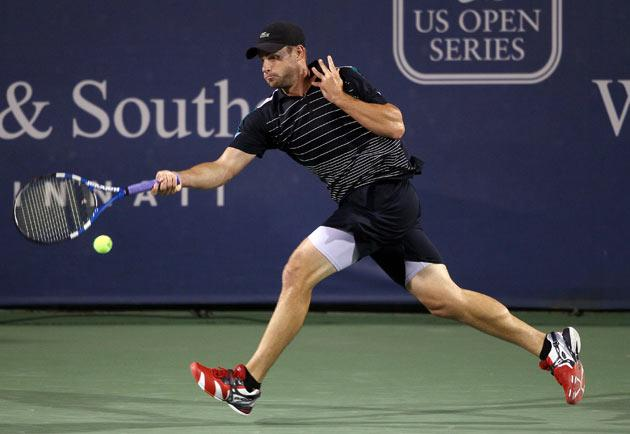 Roddick smashed his racket during the course of the match