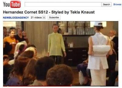 Hernandez Cornet SS12 - Styled by Tekla Knaust (screenshot video)