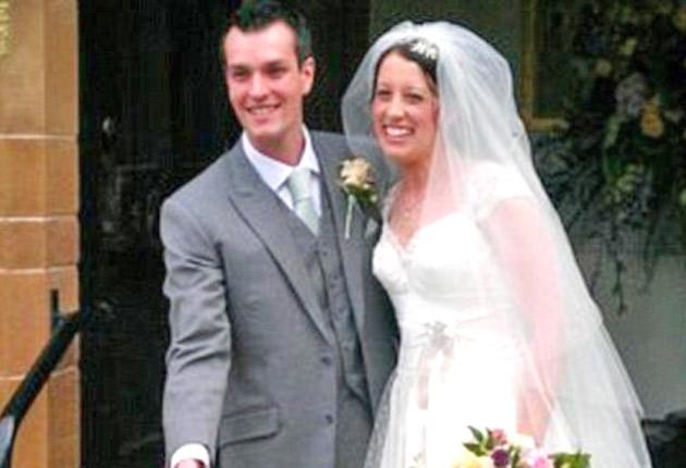 Ian Redmond and Gemma Houghton on their wedding day