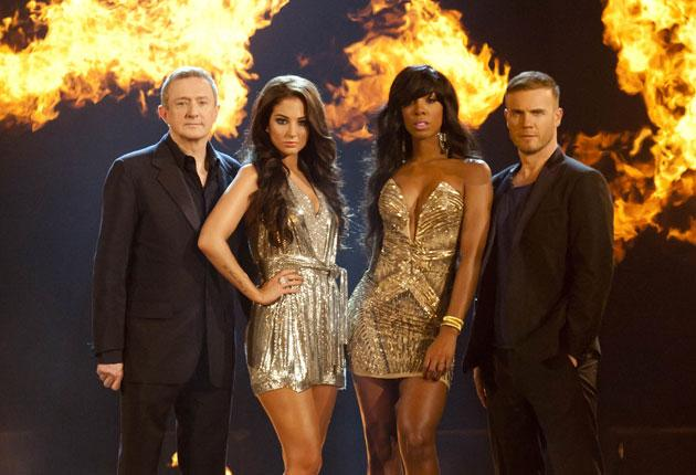 The show's new judges, Louis Walsh, Tulisa Contostavlos, Kelly Rowland and Gary Barlow