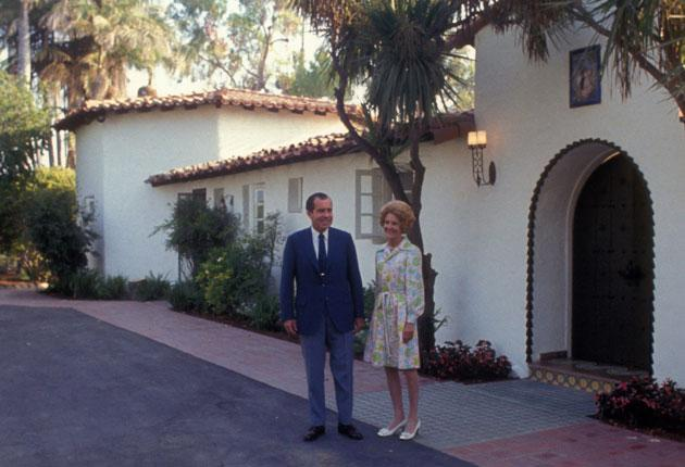 What they did on their holidays: Richard Nixon and his wife Pat at their home in San Clemente, California, 1969