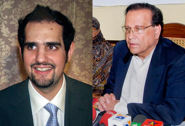 Shahbaz Taseer, who is missing, and his father, Salman, who was killed because he opposed blasphemy laws