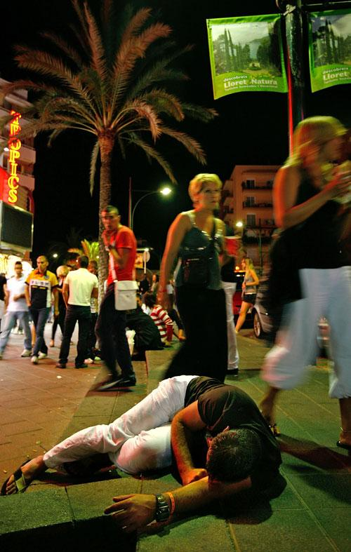 A night out in Lloret de Mar, where there was a riot earlier this month