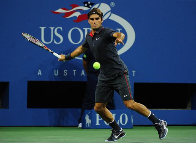 Roger Federer cruised into the second round