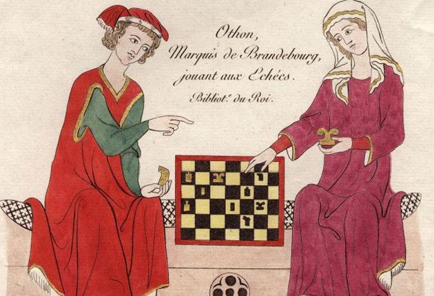 Moving: Othon, the 14th-century Marquis de Brandebourg, plays chess