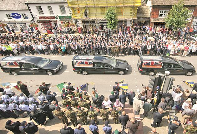 The Wiltshire town has paid its respects to 167 soldiers since April 2007