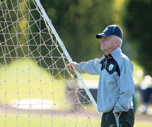 Ireland's manager, Giovanni Trapattoni, shows no sign of losing his passion for the game at the age of 72