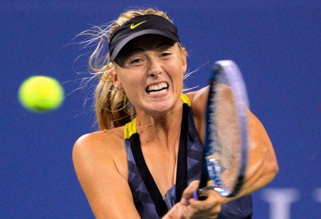 Maria Sharapova in full voice at the US Open this week