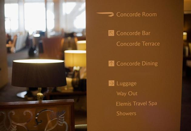 Heathrow's Concorde Lounge boasts private cabanas and an Elemis spa. Expect to see Rod Stewart admiring the bar's panoramic views