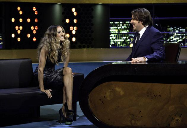 Sarah Jessica Parker provided the glamour on Jonathan Ross's first night on ITV