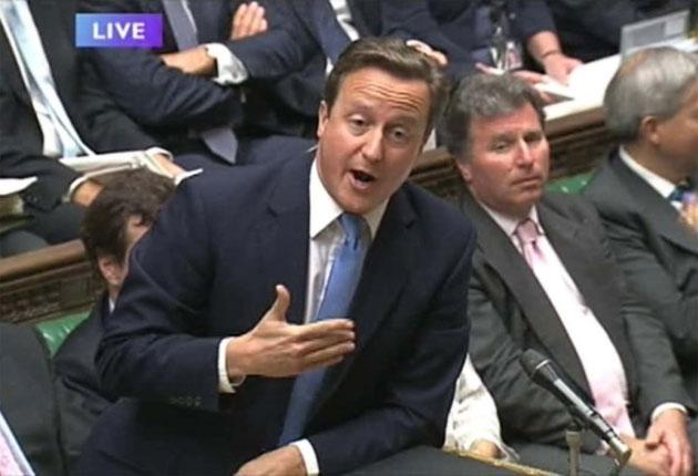 David Cameron's treatment of Nadine Dorries provoked uproar in the Commons