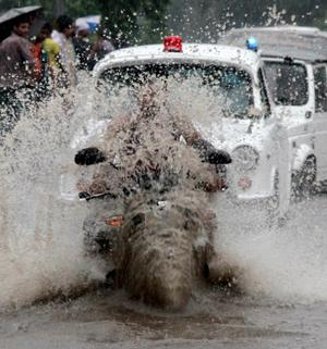 Chaos in New Delhi as the deluge continues