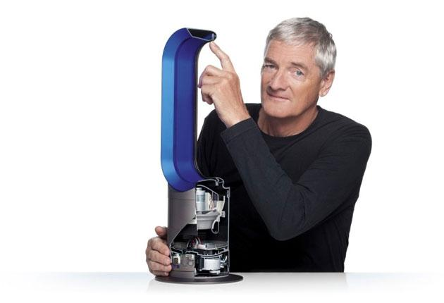 Sir James with the Dyson Hot bladeless fan heater