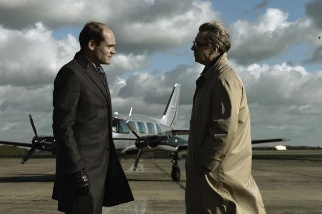 Gary Oldman, right, as Smiley with David Dencik as Toby Esterhase in Tinker Tailor Soldier Spy