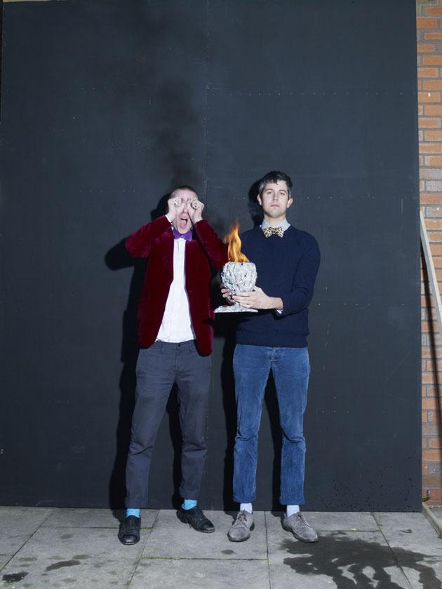 Sam Bompas, left, and Harry Parr, right, are the founders of Bompas & Parr, 'jelly architects'