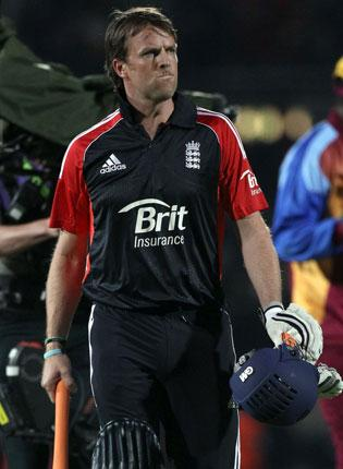 Stand-in England captain Graeme Swann exits after defeat last night