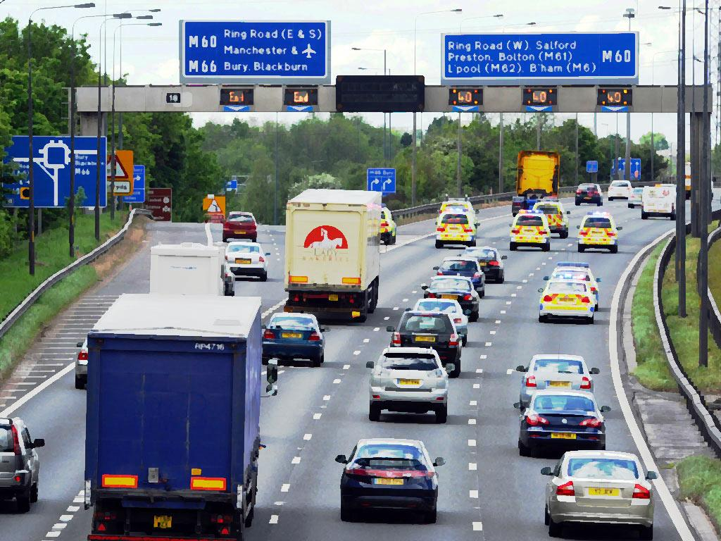 Nearly half of cars exceeded the 70 mph speed limit on motorways last year