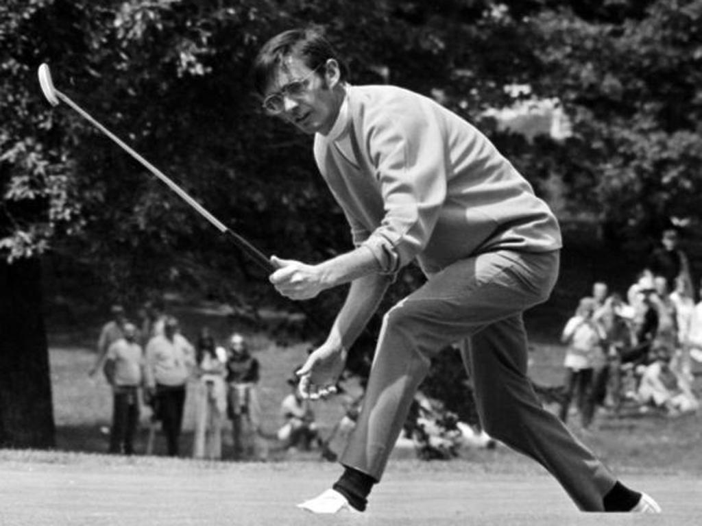 Hill during the 1970 US Open at Chaska - a course which he said lacked only '80 acres of corn and a few cows'