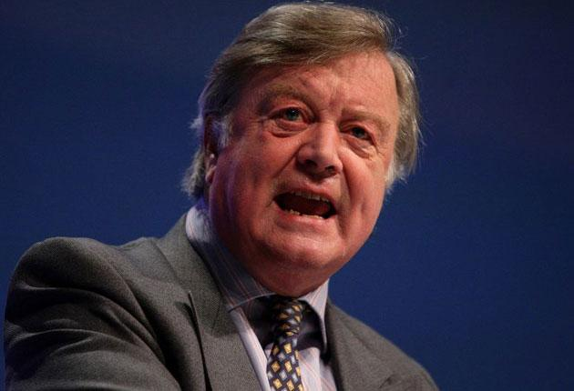Kenneth Clarke addresses the Conservative Party Conference