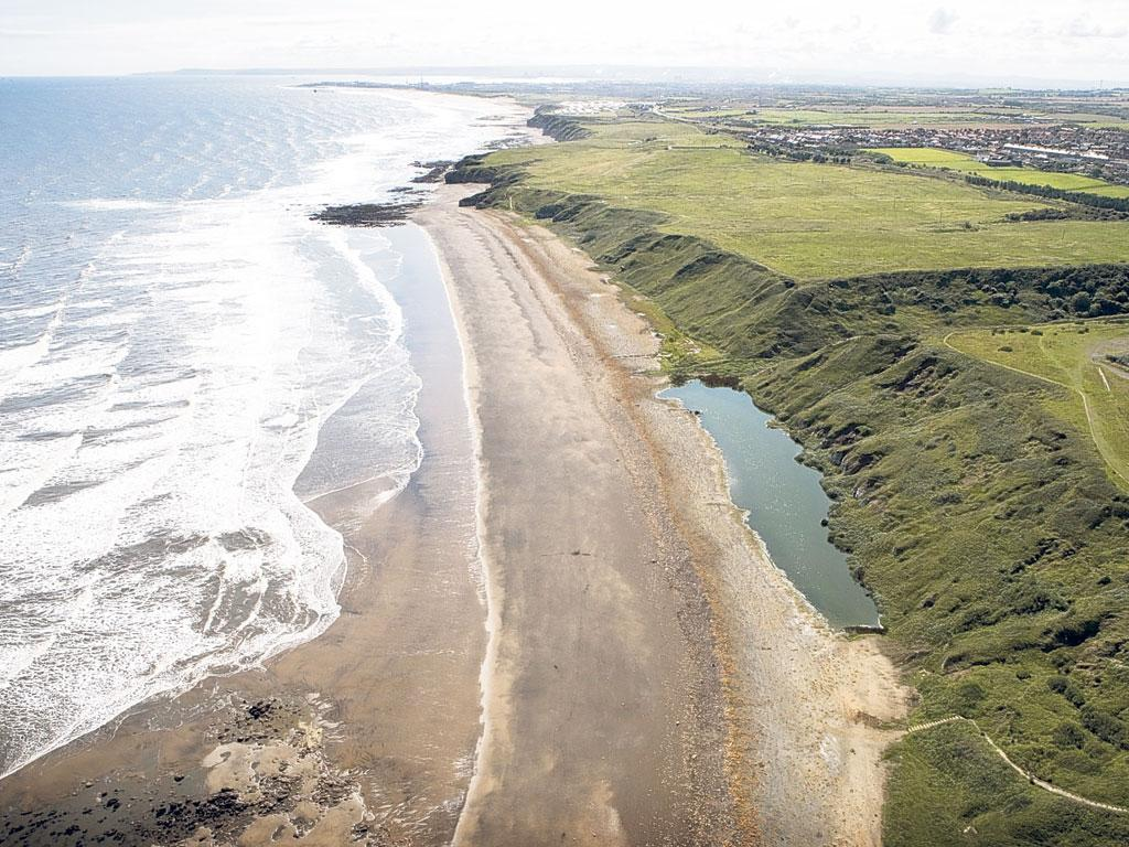 The coastal stretch along the North-east coast