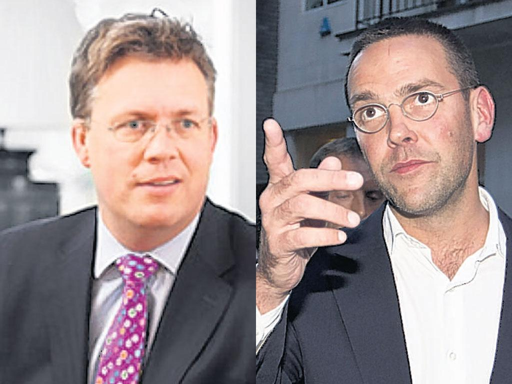 Julian Pike accused James Murdoch, right, of 'misrepresenting' events