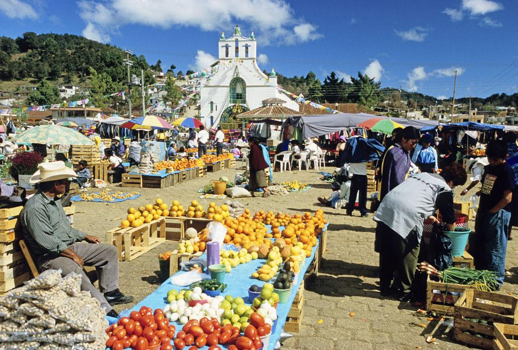 Feeding the world: Mexican produce in the market at San Juan de Chamula, Chiapas